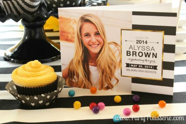 Black, White and Gold Graduation Party Ideas on the Tiny Prints Blog today #graduation