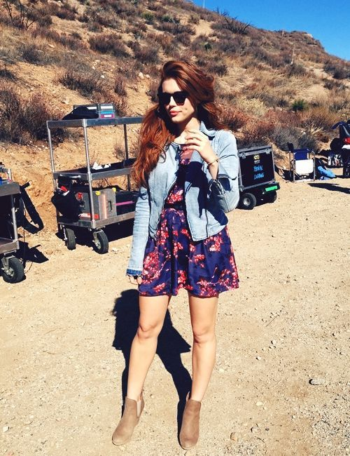 Holland Roden (Lydia Martin) on the set of Teen Wolf.