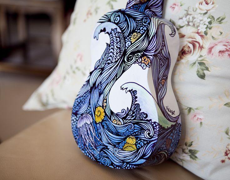 Ukulele Design - The Sea - Back by vivsters.deviantart.com on @deviantART