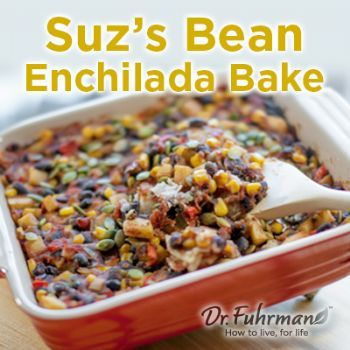Suz's Bean Enchilada Bake from Dr. Furhman's site