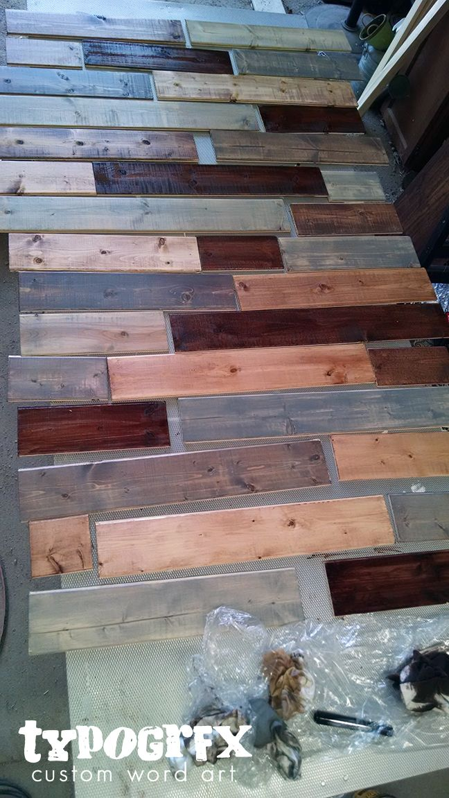 Faux Pallet Wall Tutorial Project Inspiration Pallet