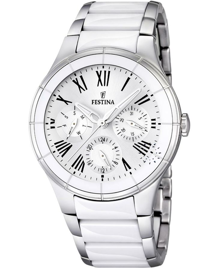 ESTINA Ladies Ceramic and Stainless Steel Bracelet Τιμή: 218€ http://www.oroloi.gr/product_info.php?products_id=38801