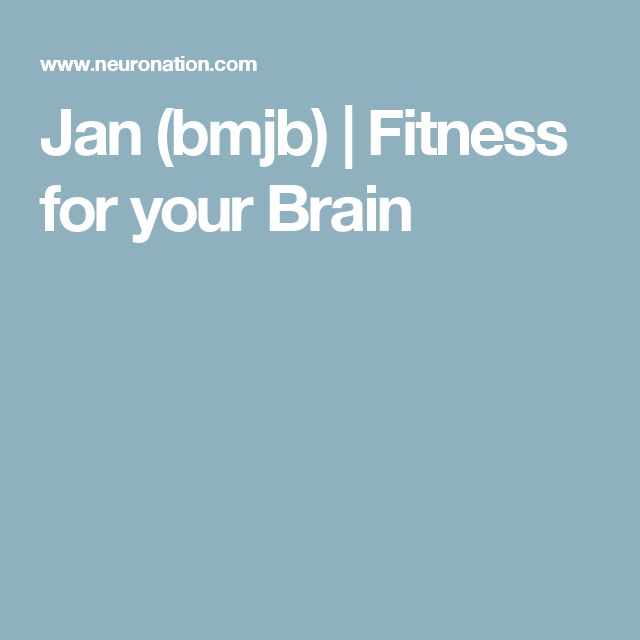 Jan (bmjb) | Fitness for your Brain