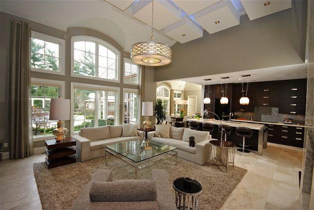 25 open living room design ideas living rooms living for Kitchen cabinets zen