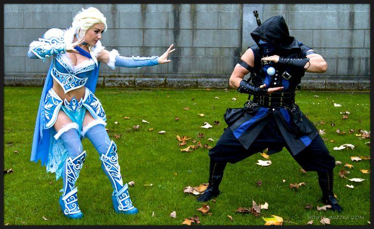 Vancouver AniRevo 2014 Cosplay - JESSICA NIGRI - BATTLE ARMOR DISNEY PRINCESS - ELSA V SUB-ZERO | Flickr - Photo Sharing!