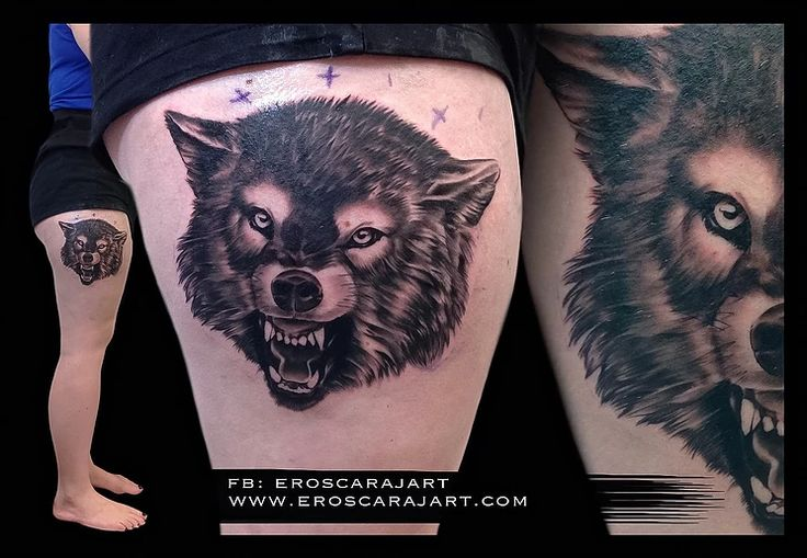 Wolf tattoo #Brisbane #Tattoo #Artist #Tattooist