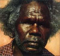 Painting by Jonathan Aatty of Huihai Xie, seen at River Tweed Art Gallery near Murwillumbah, NSW, Australia in 2006
