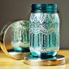 Mason Jar ideas   Search & Buy Mason Jar decor items on hand painted, home decor