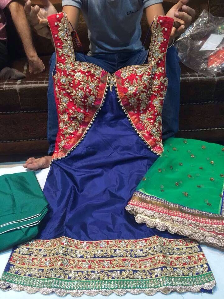 get it made at @Nivetas Design Studio.for query kindly whatsapp +917696747289. visit us at https://www.facebook.com/punjabisboutique