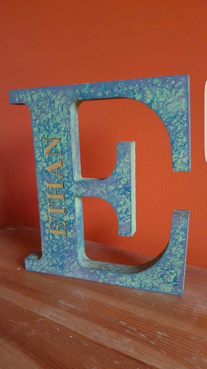 Hand painted CNC cut letter