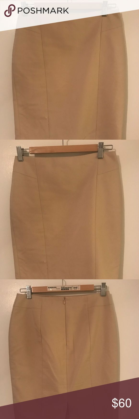 Pencil skirt Pencil skirt from Ann Taylor (4P). It's cream colored and great structure, beautiful /material. Ann Taylor Skirts Pencil