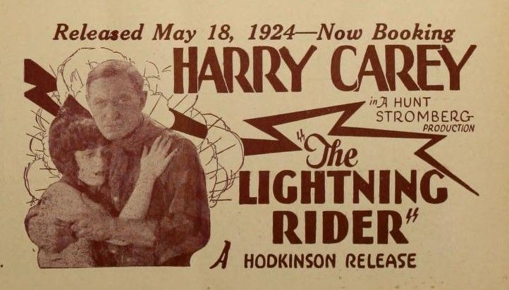 """The Moving Picture World – June 7 1924: Virgina Brown Faire and Harry Carey in """"The Lightning Rider"""""""