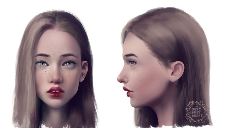 character_profile_face by very-busy-bunny  #art #digitalart #face #girl