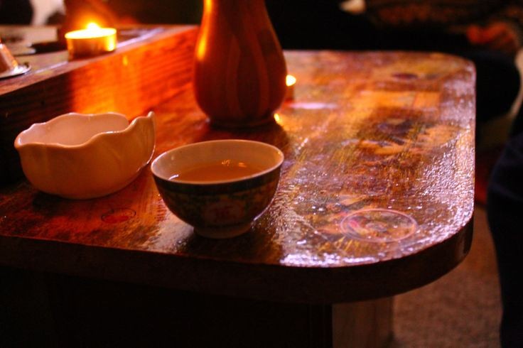 Piala tea during a tea party in the Chinese style at the winter solstice. \ Пиала чая во время чаепития в китайском стиле на зимнее солнцестояние.