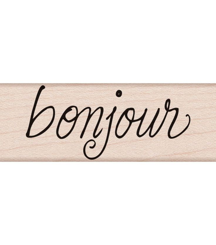 """Hero Arts Mounted Rubber Stamp 2.75""""X1""""-Bonjour Message"""