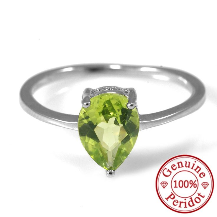 Water Drop 1.2ct Natural Peridot Rings Only $27.99 => Save up to 60% and Free Shipping => Order Now! #Bracelets #Mystic Topaz #Earrings #Clip Earrings #Emerald #Necklaces #Rings #Stud Earrings