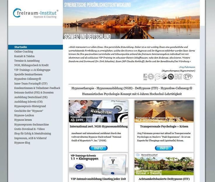 Homepage FRI für Humanistische Hypnose + Transpersonale Psychologie.