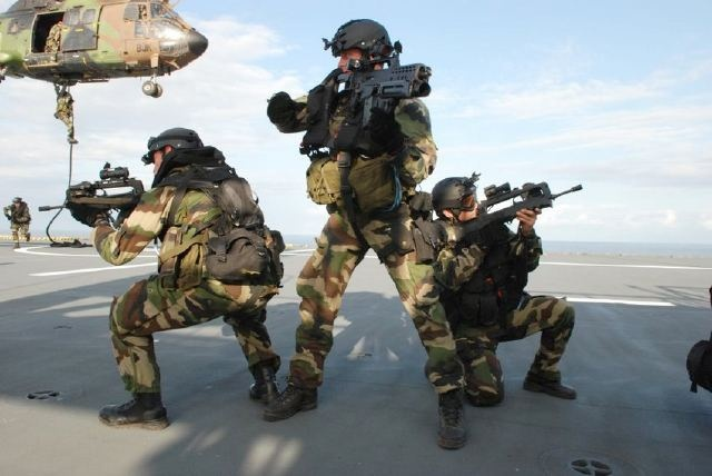 French Navy Marine Commandos.