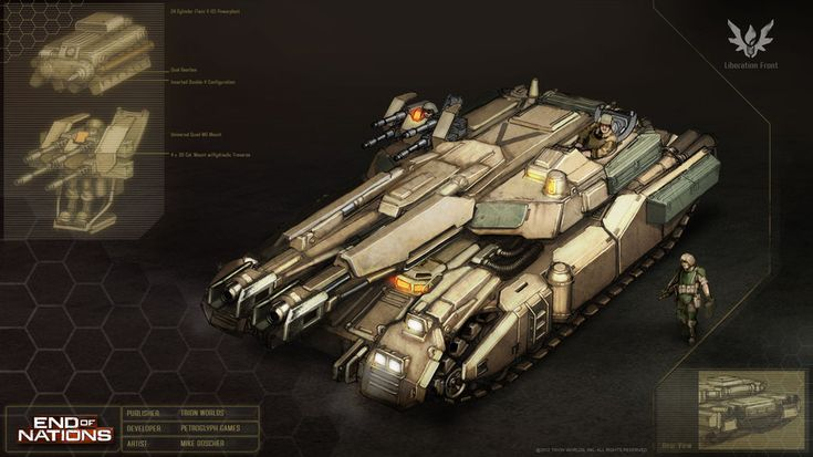 Liberation Front: Ares Assault Tank Concept by MikeDoscher on DeviantArt