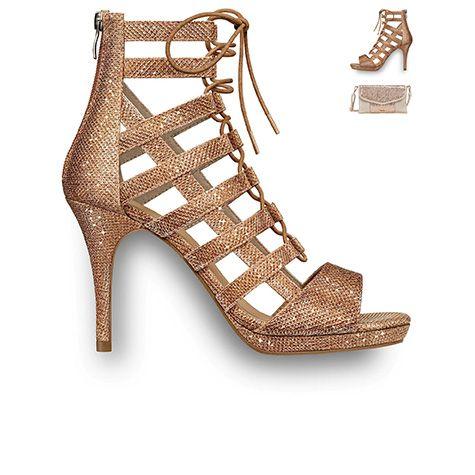 mylonas shoes #Glamour #glitter #gold #heels #2016 #tamaris