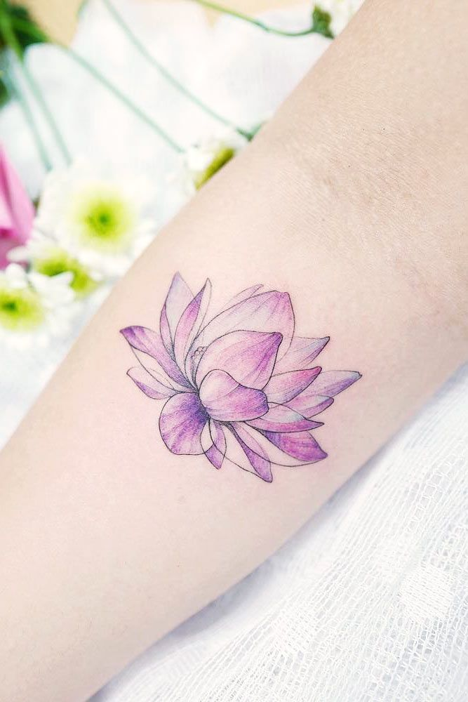 10 Best Lotus Flower Tattoo Ideas To Express Yourself Purple Tattoos Flower Wrist Tattoos Watercolor Lotus Tattoo