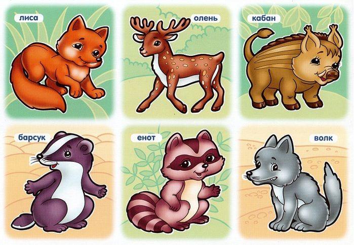 учить животных малышам картинки план таких