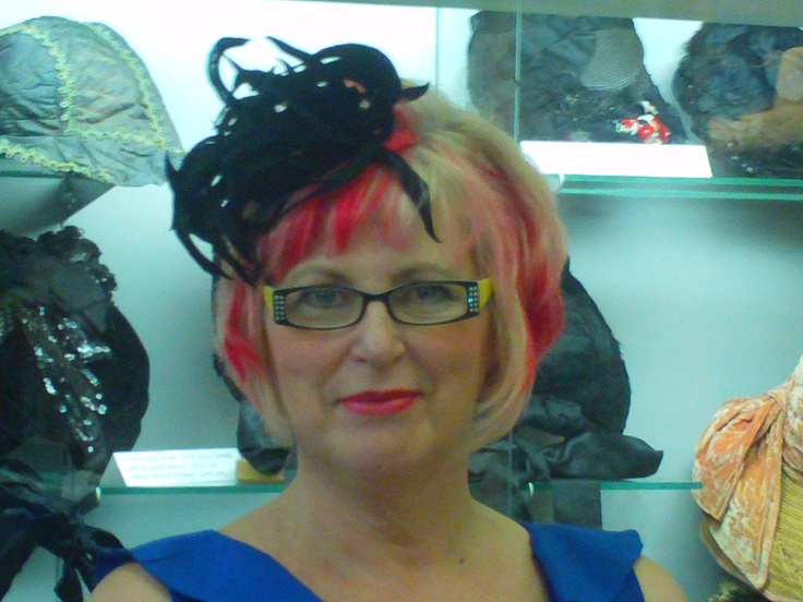 Norma Shephard - 'Finishing Touch' Millinery exhibit, Dundas ON. To book a vintage hat exhibit or installation, contact the Mobile Millinery Museum & Costume Archive.  Sharing the joy of hats since 1999.