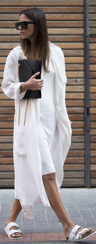 Zara White Women's Summer Long Line Trench by Fashionvibe