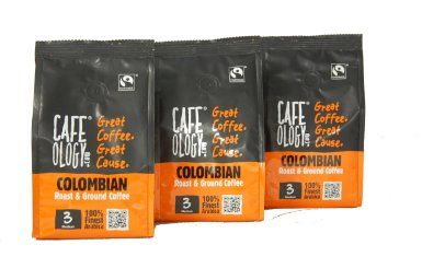 Cafeology Fairtrade Colombian Fresh Ground Coffee 227 g (Pack of 3): Amazon.co.uk: Grocery