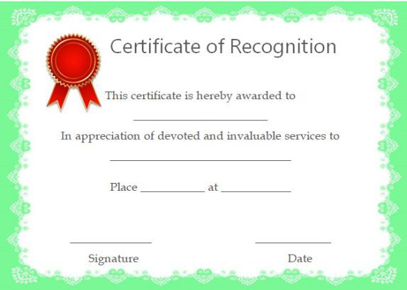 38 best Certificate of Recognition images on Pinterest - best of certificates of appreciation wording