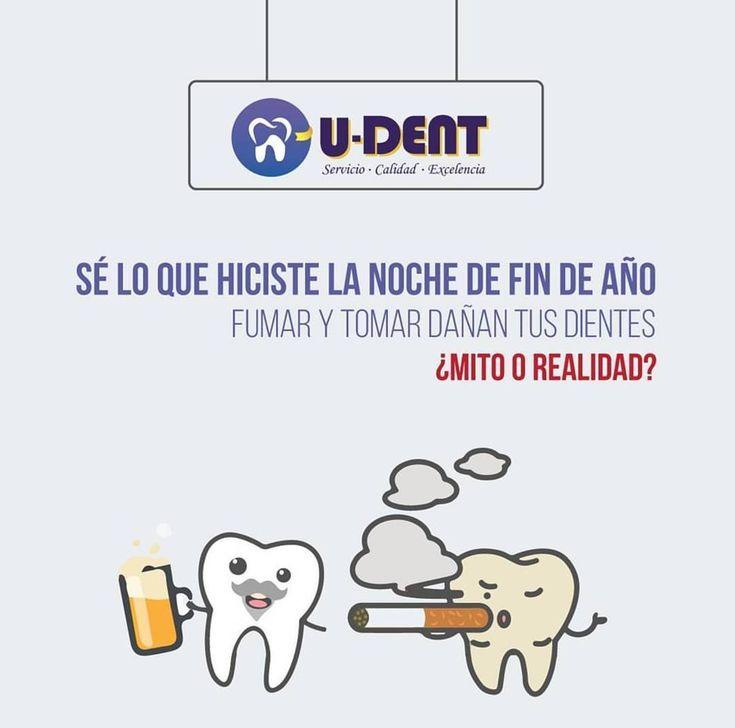 Realidad!  Al tomar cerveza los dientes quedan comprometidos por el acido del alcohol y los cromógenos en la bebida se adhieren al esmalte de los dientes manchándolos.  El tabaco es dañino para la salud en general y para tus dientes también. Los mancha causa caries mal aliento y más enfermedades bucales.  @udent_gye  #teeth #dental #odontologia #dentistry #braces #dentalschool #dentalassistant #dentalhygienist #dentalhygieneschool #teethwhitening #cosmeticdentistry #cosmeticsurgery…