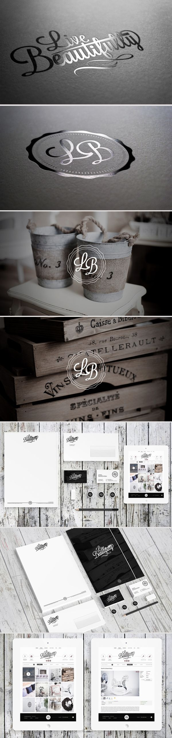 live beautifully gorgeous #identity #packaging #branding PD