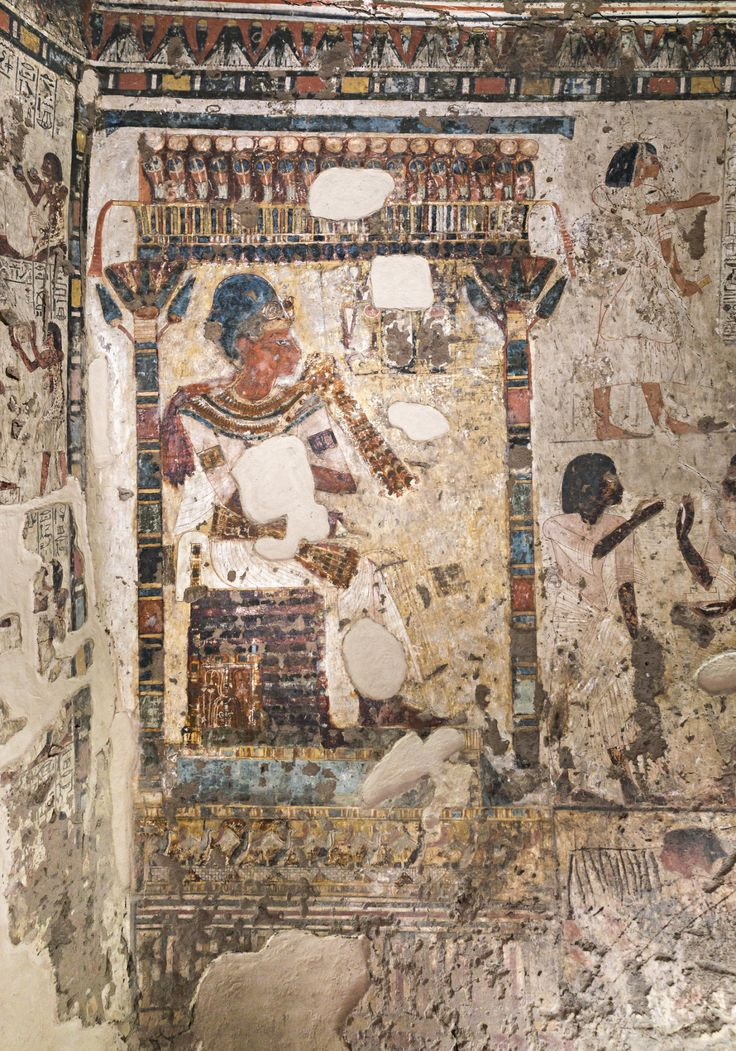 Down the Nile - tiny-librarian: Detail of a wall painting in...