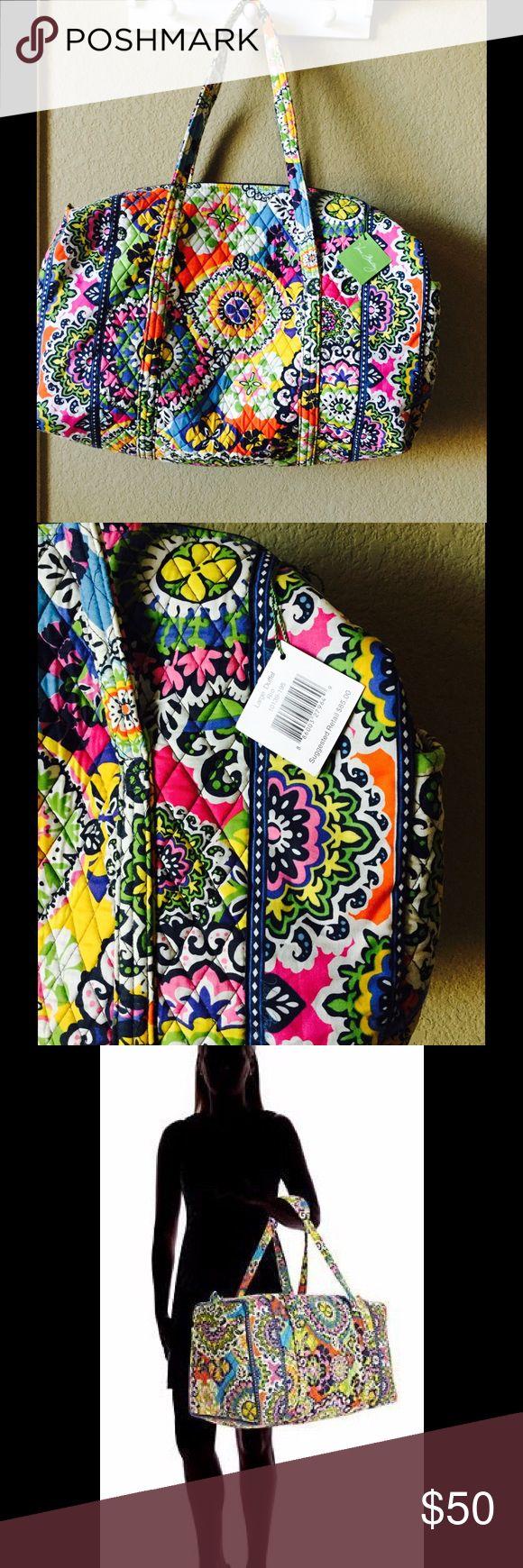 Selling this Vera Bradley Large Duffel Bag ️uthentic on Poshmark! My username is: ravensmama. #shopmycloset #poshmark #fashion #shopping #style #forsale #Vera Bradley #Handbags