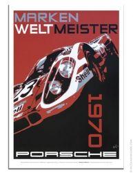 Porsche poster 1970 Marken Weltmeister Porsche 917K