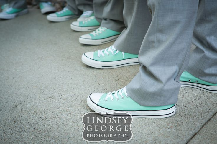 Chucks Chuck Taylor Converse groom & groomsmen wedding shoes Fremont Opera House Nebraska - click to view full gallery