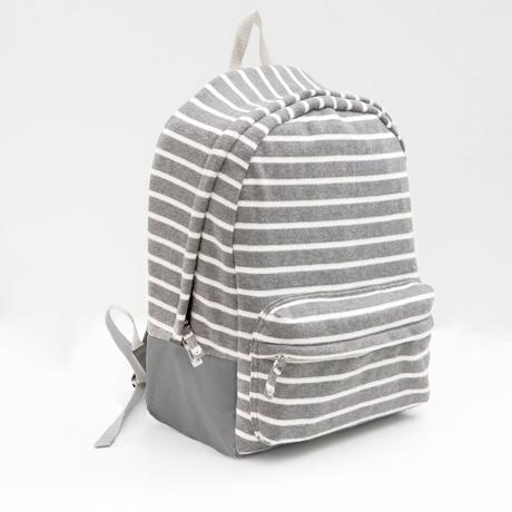 striped fleece backpack ▲ poketo