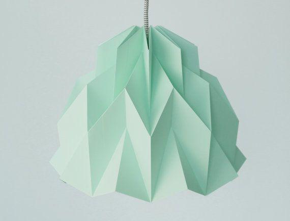 VOLANT : Origami papier abat-jour  menthe / par FiberStore sur Etsy