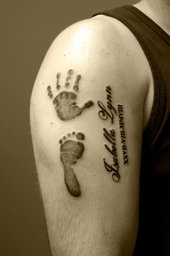 ThanksFree for All: Baby Footprint Tattoos awesome pin