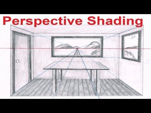 Linear Perspective Drawing Lesson 6/6 - One Point Perspective Room Drawing - How To Draw Backgrounds