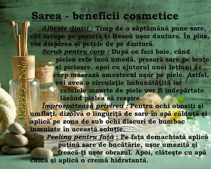 Sarea - beneficii cosmetice