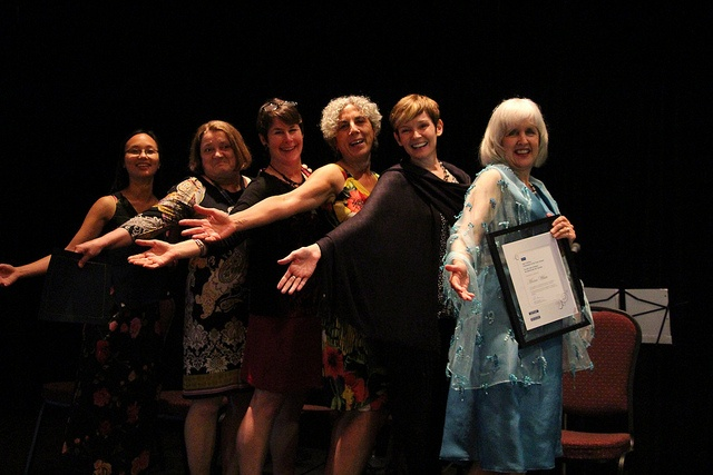 Recipients of EAC President's Award for Volunteer Service (left to right): Iva Cheung, Anne Curry, Nancy Holland, Valerie Mansour, Brooke Smith, Moira White