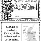 "This ""All About Scotland"" booklet can be used for a very basic country study in lower elementary grades! Just print out the pages, have kids cut a..."