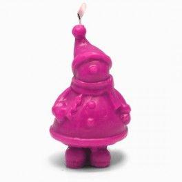 """Molde para hacer velas de navidad """"Muñeco de Nieve"""". Molde de silicona artesanal 3D. medidas 7x7x14. Ideal para hacer manualidades navideñas, velas, muñecos de resina, escayola, etc. DIY. Disponible en Gran Velada."""