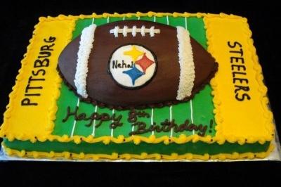 Happy Birthday Damian Football Cake