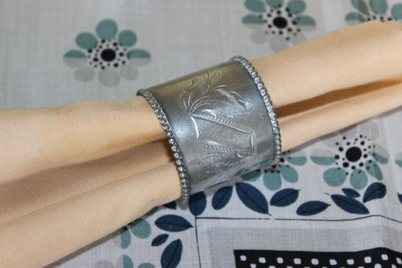 Vintage Antique Engraved Silver Napkin Ring