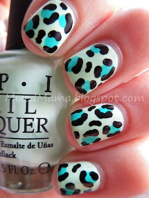 MixedMama: Funky Leopard Print Nails + Tutorial