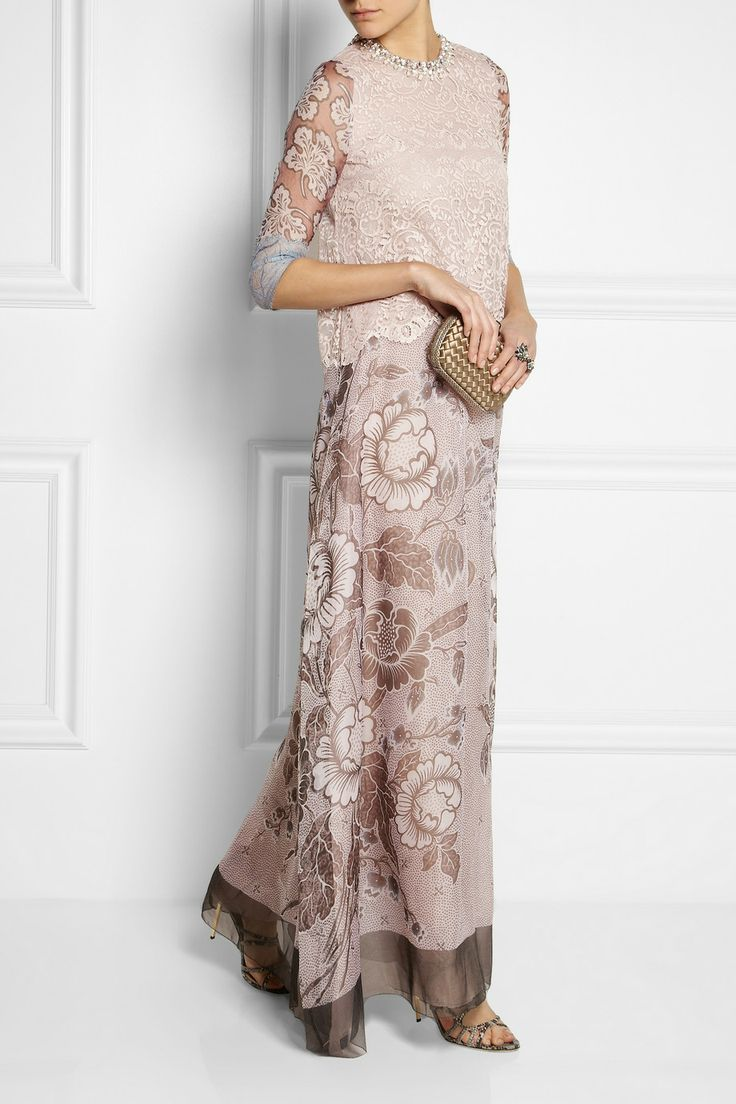 Biyan | Granger lace and silk-blend organza gown | Jimmy Choo | Snake-effect leather sandals | Bottega Veneta | The Knot mini intrecciato satin and ayers clutch | Lanvin | Blanche pewter-tone crystal two-finger ring |