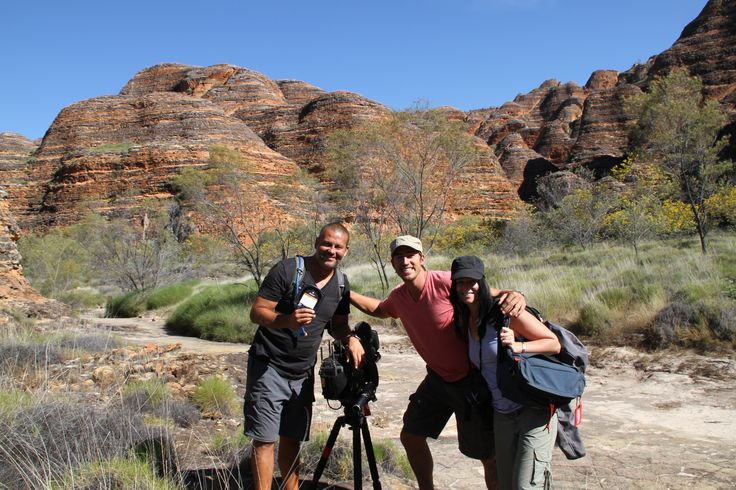 On location in the Bungle Bungles, Western Australia for S3 of Places We Go