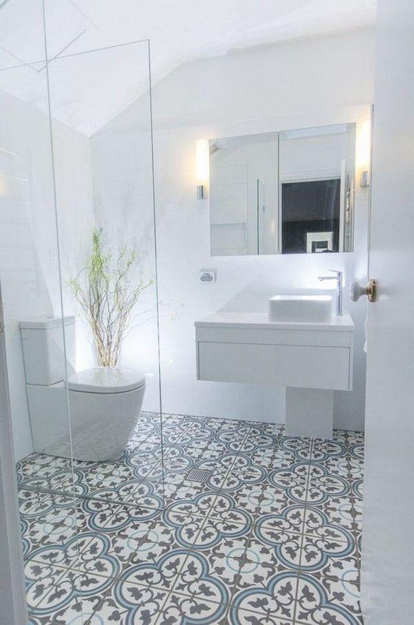 Suelos hidráulicos en cuartos de baño